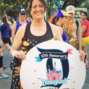 Marney at Disney race
